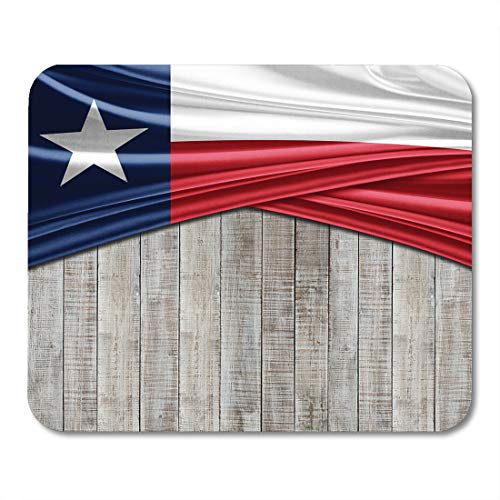(Emvency Mouse Pads Blue Abstract Texas Flag of Silk Copyspace Images and Wood 3D Red America Mousepad 9.5