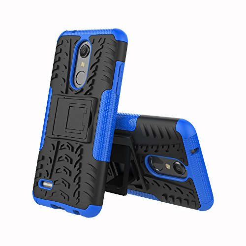 Alkax Case for LG K30 / LG Phoenix Plus/LG K10 2018 / LG Premier Pro LTE/LG Harmony 2 Case with Kickstand Shockproof Protective Dual Layer Hard PC and Soft TPU Hybrid Phone Cover and Stylus -Blue