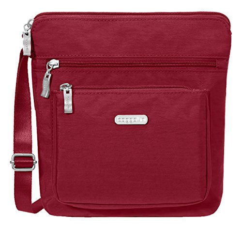 Baggallini Pocket Lightweight Crossbody Bag–Spacious, Water-Resistant Travel Purse with RFID Wristlet ()