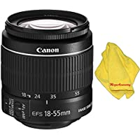 Canon 18-55mm IS STM Lens (WHITE BOX) + MEGAACC Microfiber Cloth