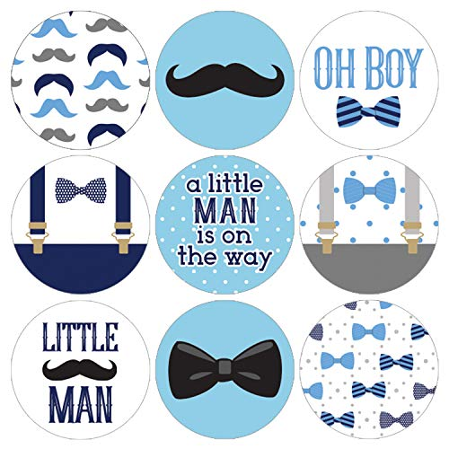 Little Man Baby Shower Favor Labels | 198 Stickers
