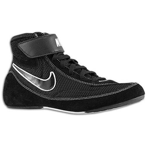 Nike Kids Speedsweep VII Wrestling Shoe Black/White/Black Size 6