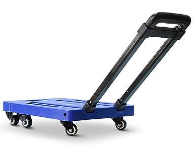 YIPAI Carretilla de rueda plegable Plataforma Universal de coche los seis ronda Portable 200kg (azul