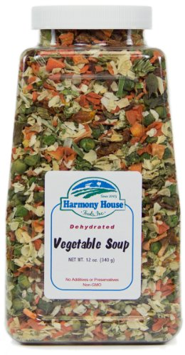 Harmony House Foods Soup Mix, Dried Vegetable, 12 Ounce Quart Size Jar