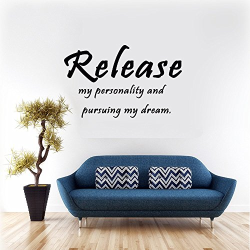 Release my personality and pursuing my dream. Vinyl Wall Decals Quotes Sayings Words Art Deco Lettering Vinyl Wall Art Inspirational Uplifting Slap-Art - Seattle Stores Outlets Premium