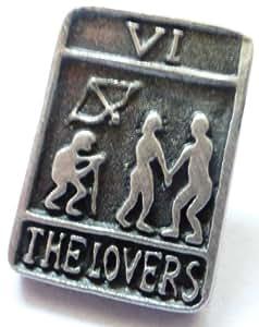 The Lovers Carta Tarot Trionfi Prendedor Pin en Refinado Peltre Inglés