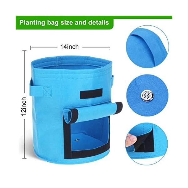 YuYzHanG Borse per Piante Piantare Grow Box W/Finestrino Laterale di Patate Coltivazione Casalinga Orto Piantare Bag… 2 spesavip