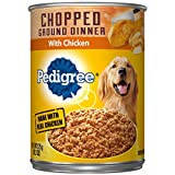 Pedigree Chopped Ground Dinner With Chicken Adult Canned Wet Dog Food, (12) 13.2 Oz. Cans