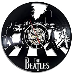 The Beatles Art Vinyl Wall Clock Fan Gift Children's Room Decor Idea Home Art Party