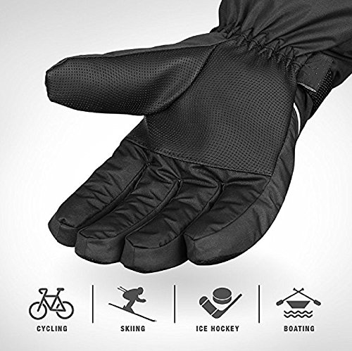 Freestyle - Winter Snowboard & Ski Gloves, Warm 3M Thinsulate, Waterproof, Windproof & Breathable with Anti-Slip Palms for Men & Women, Unisex Outdoor Snow Riding, Hockey, Black, Size (Freestyle Womens Snowboard)