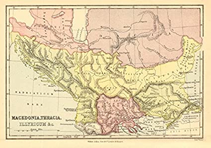 Ancient Greece Map Macedonia.Amazon Com Ancient Greece North Macedonia Thracia Illyricum C