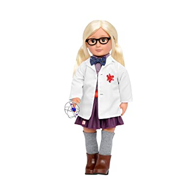 "Our Generation by Battat- Ameilia 18"" Posable Professional Inventor Doll- for Age 3 Years & Up Dolls Our Generation-Amelia-18 Professional Inventor Doll: Toys & Games"