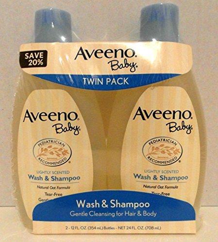 Aveeno Baby Wash & Shampoo 12 Fl Oz Twin Pack Model: (Newborn, Child, Infant)