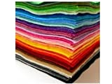 YOFIT Acrylic Felt Jumbo Pack - 60 Sheets - 8.3 x 11.7 Inch - 15 Assorted Colours