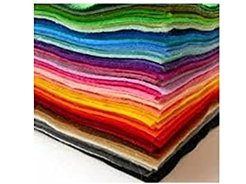 Bastelfilz 30 Filzplatten Dekorativer Filzstoff Din A4 Farblich