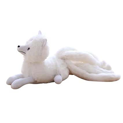 Amazoncom Remeehi Soft Cartoon White Wildlife Fox With Nine Tails