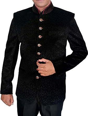 Inmonarch Mens Black Jodhpuri Suit Self Design 2 Pc Jo397 At Amazon