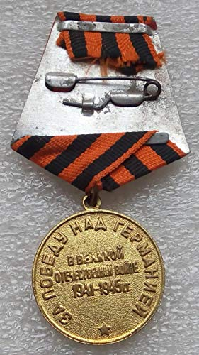 #5 We Won For the Victory over Germany WW II Original USSR Soviet Union Russian military Communist Bolshevik Medal St. George Ribbon