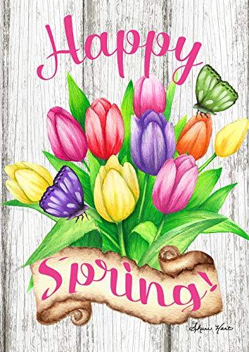 - Toland Home Garden 1012301 Spring Tulips 28 x 40 Inch Decorative, House Flag (28