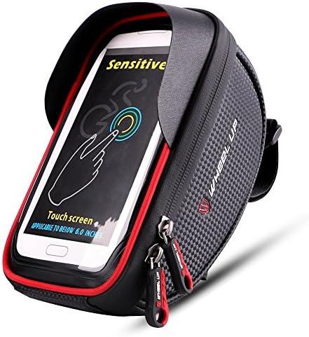 Fahrrad-Frontrahmentasche Fahrrad-Rahmentasche Handyhalter mit Touchscreen-Aufbewahrungstasche f/ür iPhone XS MAX XS X 8 7 6 6S Plus Smartphones unter 6 Zoll Fahrrad-Lenkertasche wasserdichte Fahrradtasche