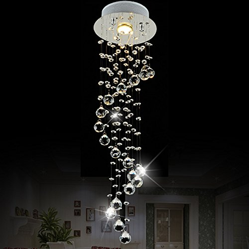 Chrome Lava Lamp (LightInTheBox Chandelier Luxury Modern Crystal Bulb Included, Pendant Lights Ceiling Light Fixture for Living Room, Dining Room, Bedroom)
