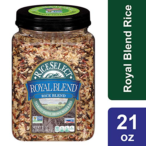 RiceSelect Royal Blend, Texmati White, Brown, Wild, and Red Rice, 21 oz Jar