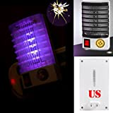 Tpingfe LED Socket Electric Mosquito Fly Bug Insect Trap Killer Zapper Night Lamp Lights (Black)