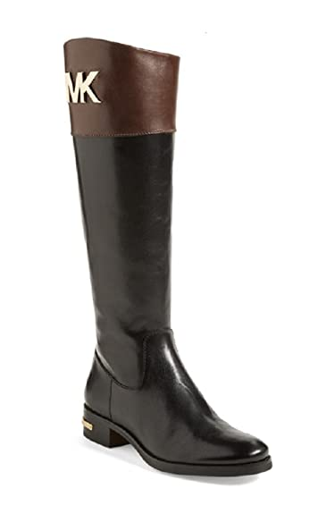 a055a65a03ac Michael Michael Kors 'Hayley' Leather Boot Black and Mocha Size 10M ; UK 9:  Amazon.co.uk: Shoes & Bags