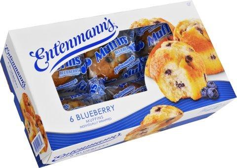 Entenmann's 6 Muffins Individually Wrapped (3 Boxes) BONUS 1 Entenmann's Crumb Cake (3 Boxes of Blueberry) ()