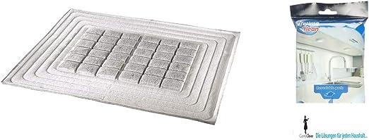 Xavax - Filtro de carbón activo de alto rendimiento para campana extractora, corte individual, 47 x 57 cm + 40 paños de cocina húmedos: Amazon.es: Grandes electrodomésticos
