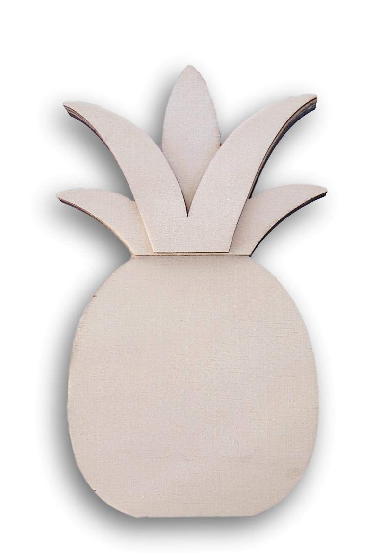 Daisy Crafts Pineapple Shaped Miniature Wood Cutout 3.5 Inches x 6.25 Inches