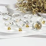 CZC HOME 10 PCS Diamond Crystal Glass Pull Handle