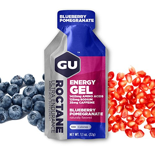 GU Energy Roctane Ultra Endurance Energy Gel, Blueberry Pomegranate, 24-Count