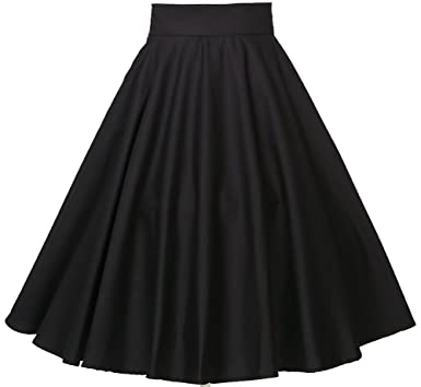 candow look rockabilly 50 s swing dance full circle skirt black high