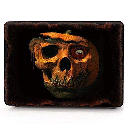 [HRH Horrifying Pumpkin Skeleton Laptop Body Shell Protective Rubberized Hard Case for Apple MacBook Air 13.3