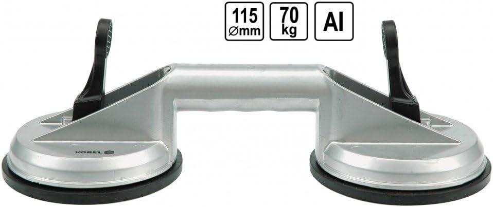 2x Doppel Saugheber 11,8cm Glasheber Gummisauger Satz Saugnapf Halter Glassauger