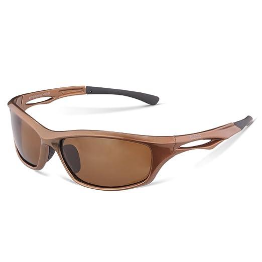 DUCO Polarisierte Sport-Sonnenbrille zum Laufen Radfahren Angeln Golf TR90 Unbreakable Rahmen 6199