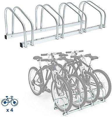 Todeco Soporte para Aparcar Bicicletas, Puesto de Bicicletas, Se adapta a 4 bicicletas, Tamaño: 99 x 32 x 26 cm, Tipo de instalación: Montaje en pared: Amazon.es: Deportes y aire libre