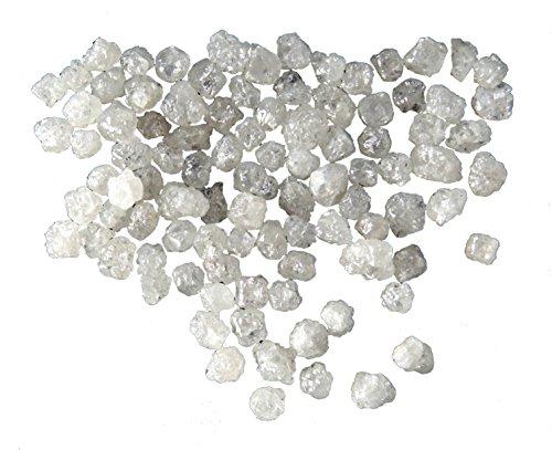Natural Loose Diamond Rough Cubic Shape Fancy White Silver Color 1.00 Ct Lot Q152