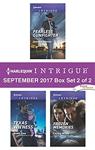 Harlequin Intrigue September 2017 - Box Set 2 of 2: Fearless Gunfighter\Texas Witness\Frozen (Books Harlequin)
