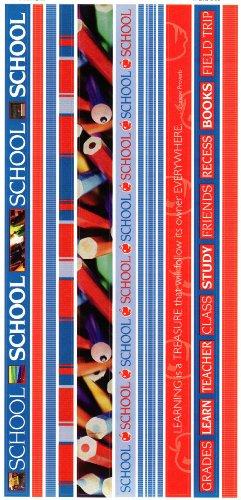 School Photo Banner Ribbon Border Scrapbook Stickers (Cloud 9 Design Photo Banner)