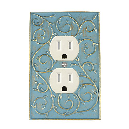 wall outlet cover plate blue - 3