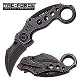 TAC FORCE Spring Assisted Karambit Pocket Knives BLACK Blade Tactical