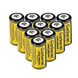 Garberiel 10-Pack 3.7v 16340 Li-ion Rechargeable Battery CR123A Battery for LED Flashlight