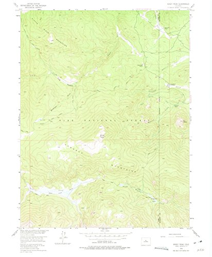 Colorado Maps | 1954 Windy Peak, CO USGS Historical Topographic Map | Cartography Wall Art | 18in x - Bancroft Ranch