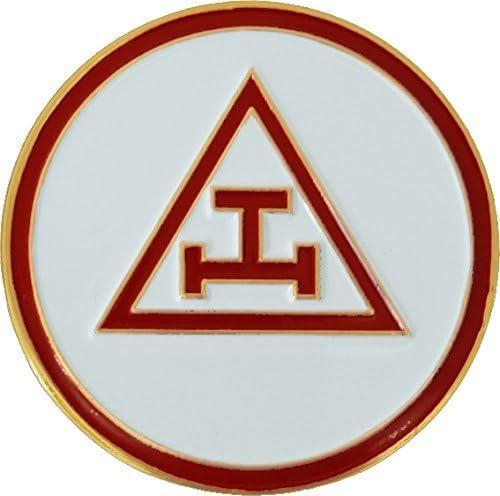 Royal Arch Round Red Masonic Auto Emblem 3 Diameter