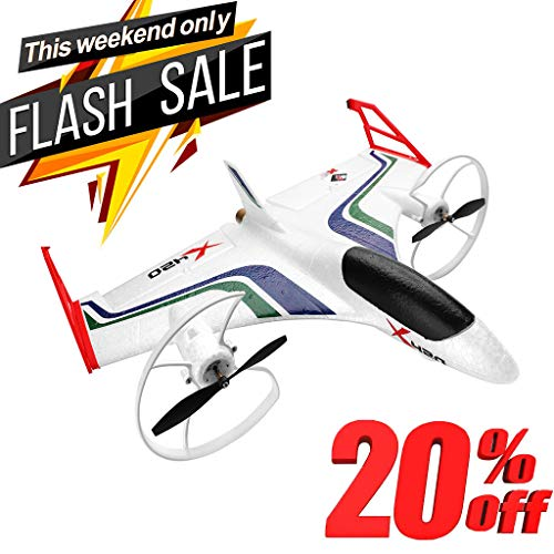 - XEDUO EPP RC Airplane RTF, Aerobatic Vertical Take-Off, with Safe Technology (6-CH 2.4GHz Transmitter Included) XK X420 2.4G 6CH 3D6G