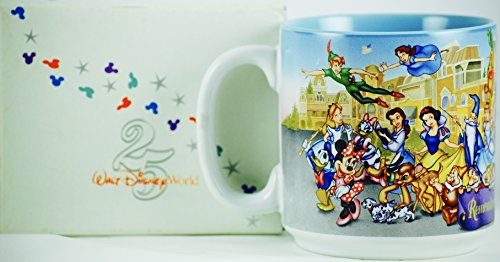 (1996 - Disney - Walt Disney World - 25 Th Anniversary - Remember the Magic - Ceramic Mug - New - OOP - Collectible - Rare)