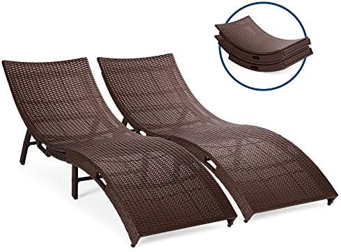Amazon.com : Best Choice Products Set of 2 Patio All-Weather ...