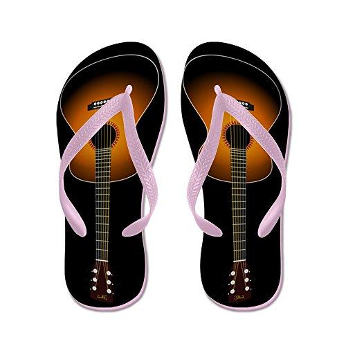 CafePress Acoustic Guitar Flip Flops (Black) - Flip Flops, Funny Thong Sandals, Beach Sandals Pink